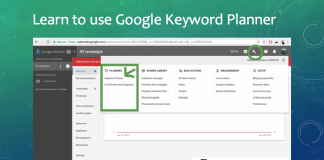 Learn to use google keyword planner