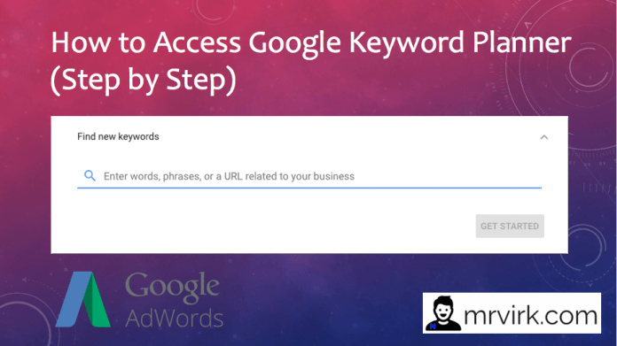 cant Access Google Keyword Planner