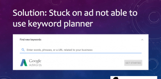 can't access google keyword planner