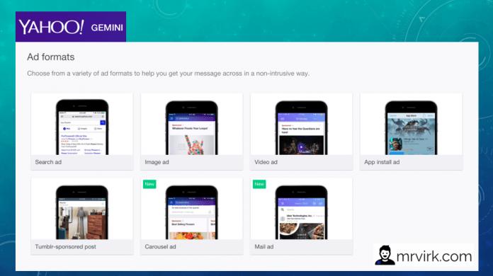 Yahoo gemini ad formats