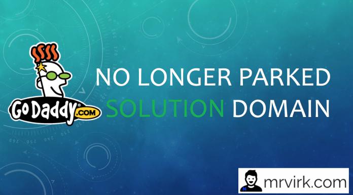 no longer parked domain godaddy error solution