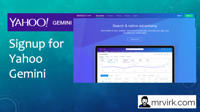signup for yahoo gemini. what is yahoo gemini ?