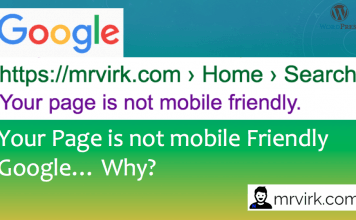 Your page is not mobile friendly