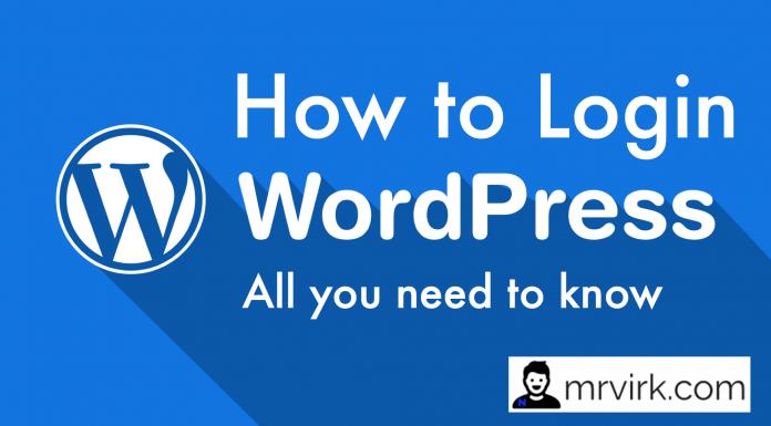 how to login into wordpress