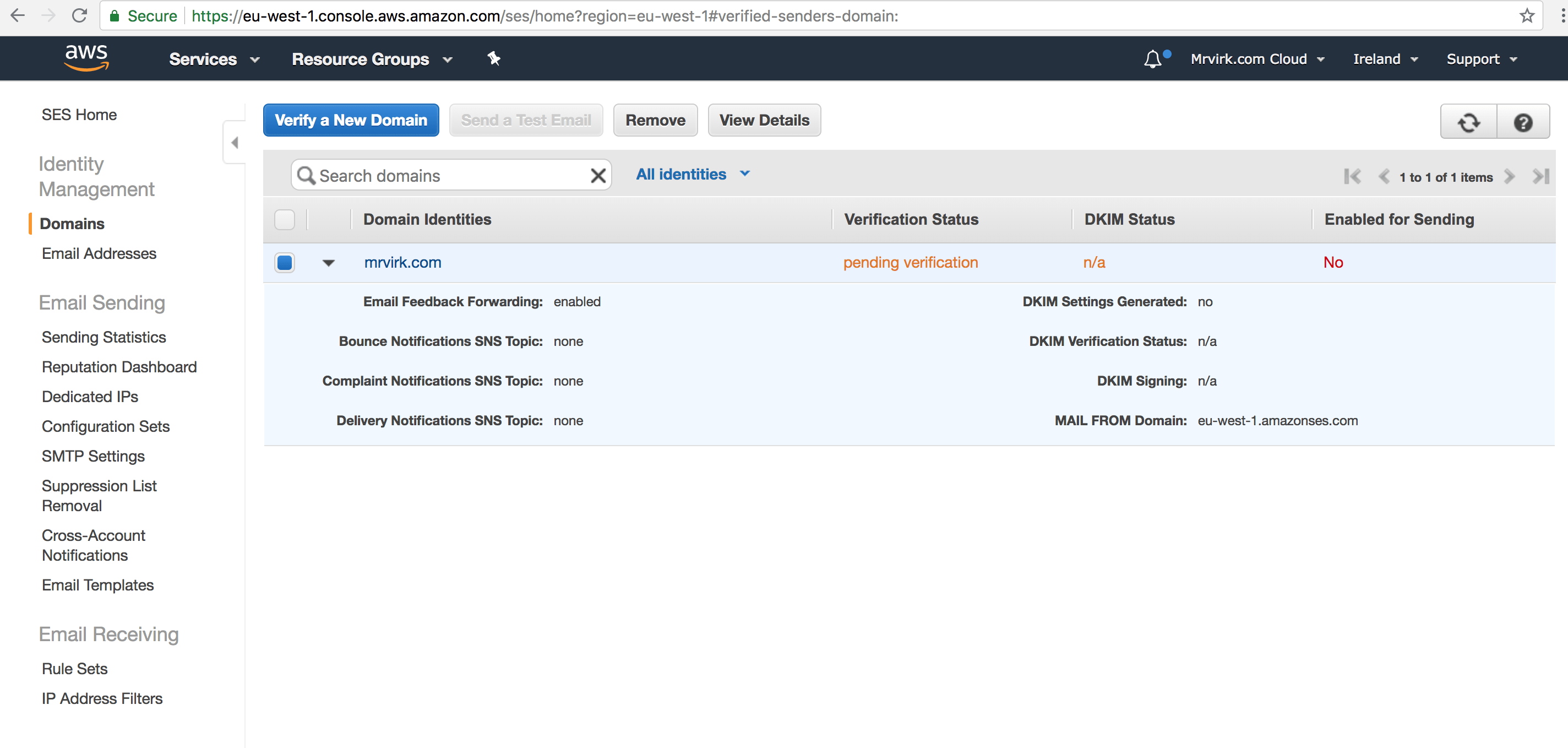 aws simple email service SES