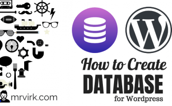 how to create database wordpress