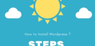 steps to installing wordpress