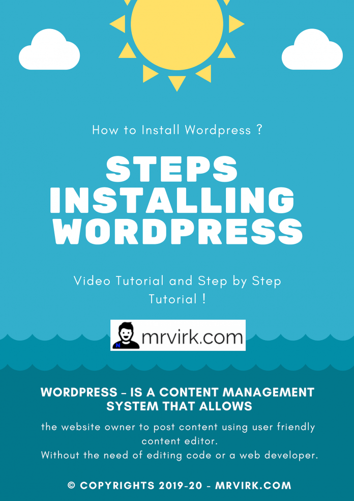 steps to installing wordpress