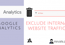 Exclude internal website traffic from Google Analytics