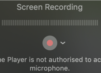 Quicktime Player is not Authorised to access the Microphone
