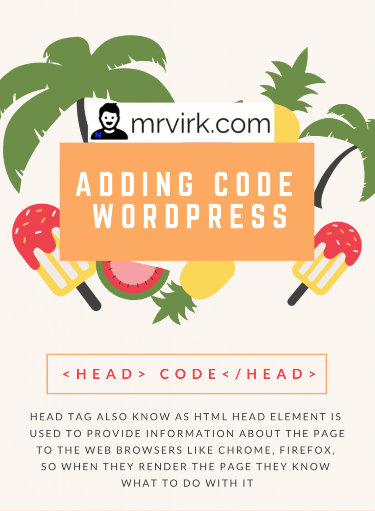How to add code to head in WordPress