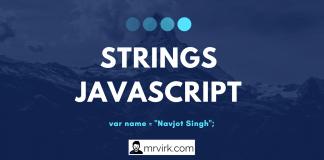 Javascript Strings