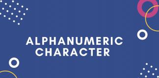 alphanumeric
