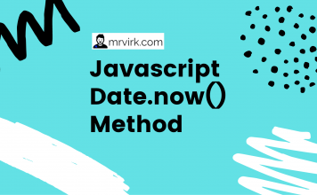 javascript date now method