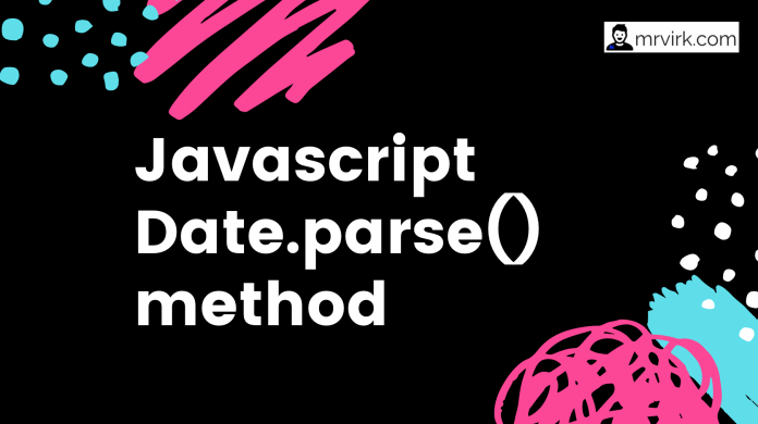 javascript date parse method