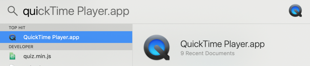 How to open quicktime player app on mac