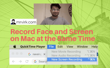 Record Face and Screen on Mac at the Same Time