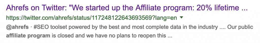 ahrefs affiliate program