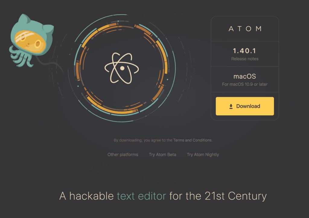 Download Atom Code Editor