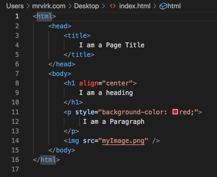 HTML Code of this DOM