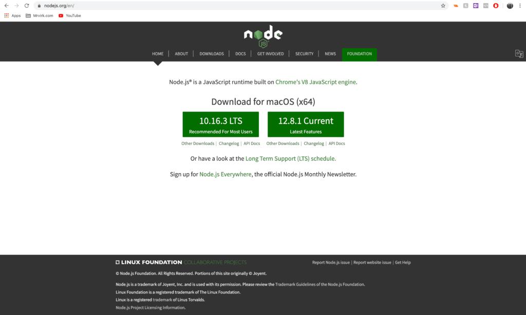 Download NodeJS