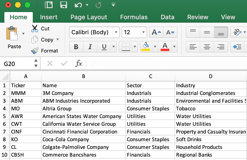 Sample Data for Adding Comma After Each Line